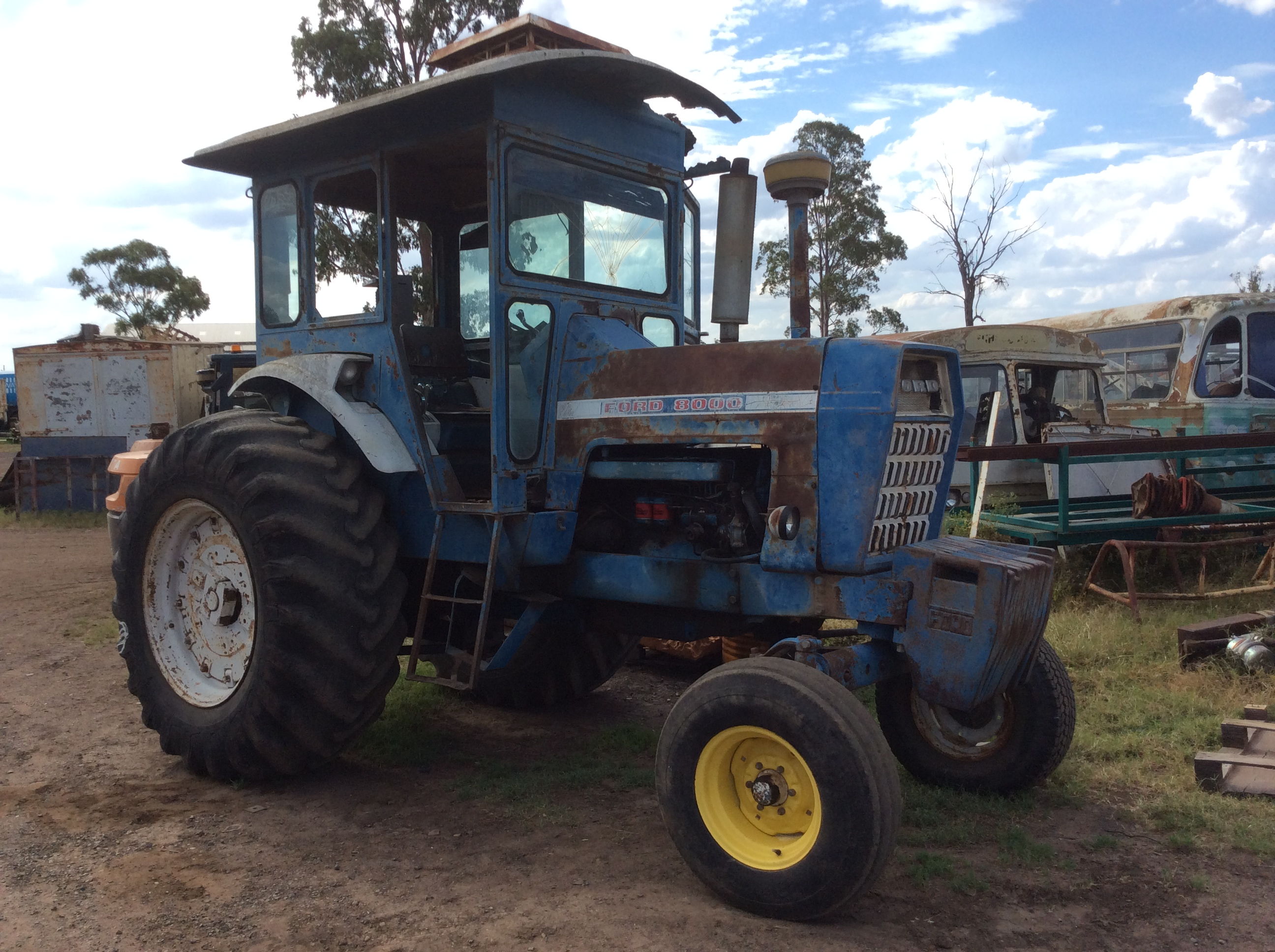Ford 8000 Tractor Seat Parts : Ford tractor truck parts wrecking