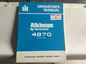 Atkinson 4870 Operators Manual