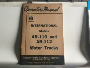 International AR 110 112 Operators Manual
