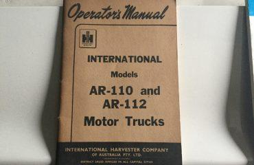 International AR 110 112 Operators Manual