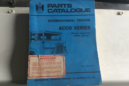 International Acco Series Parts Catalogue