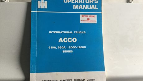 International Acco Trucks Operators Manual